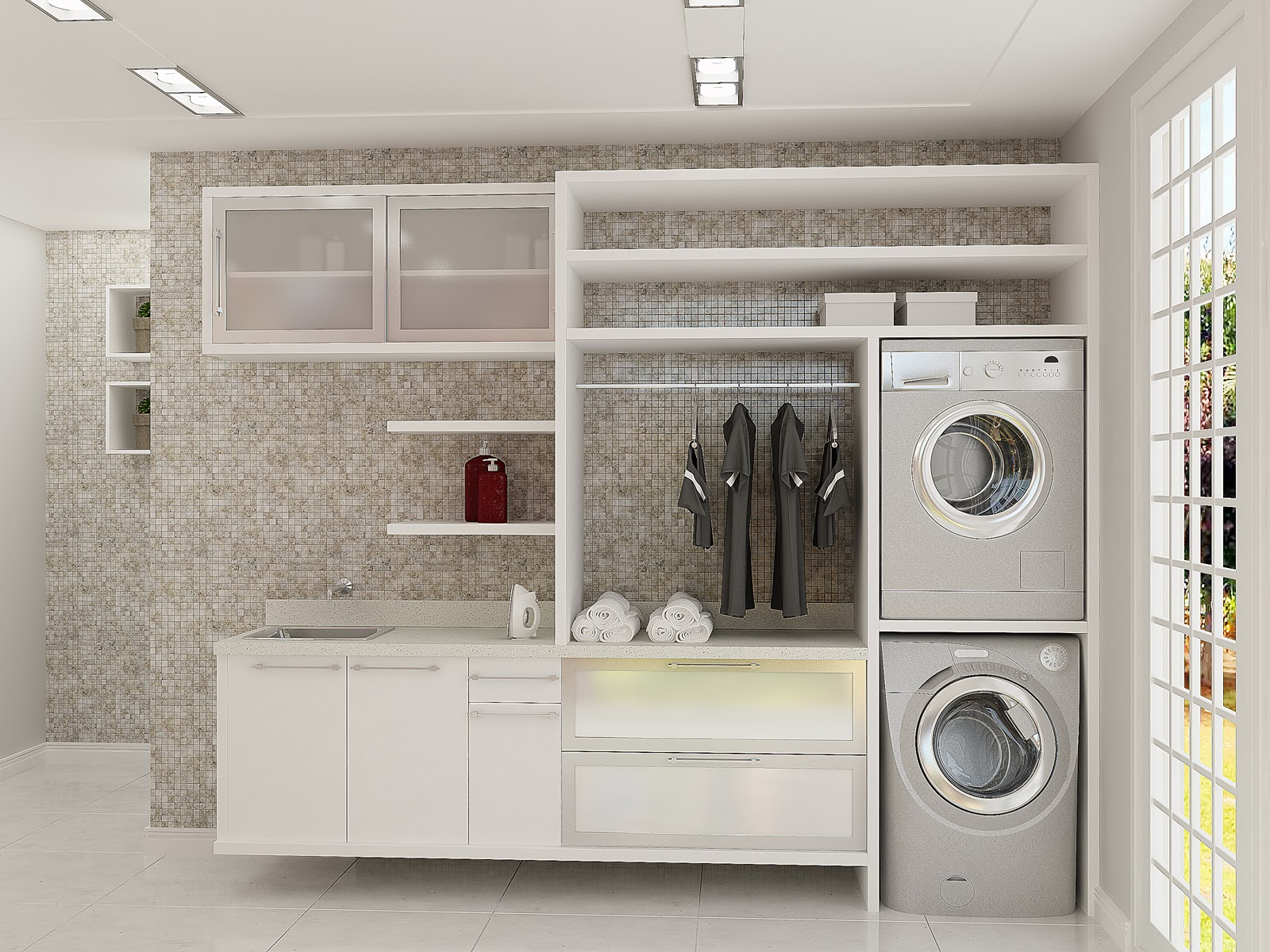 Construindo Minha Casa Clean: Casa Montada! Moderna Branca e Clean!! #977234 1600 1200