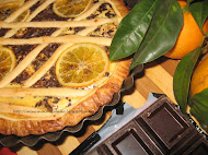 Orange and choco tart