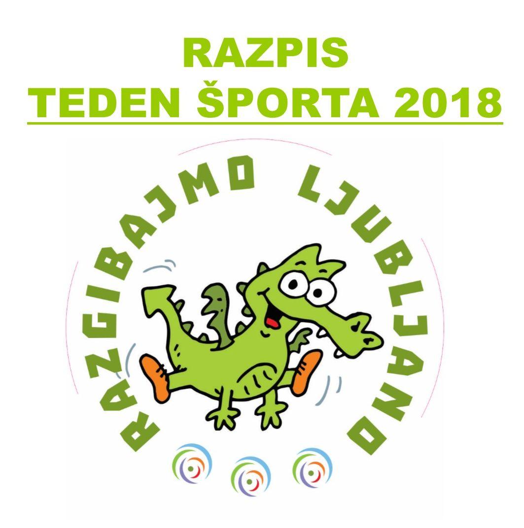 Razpis Teden športa 2018
