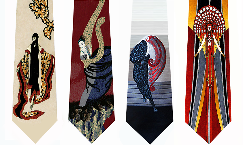 Erte Art  Neckties