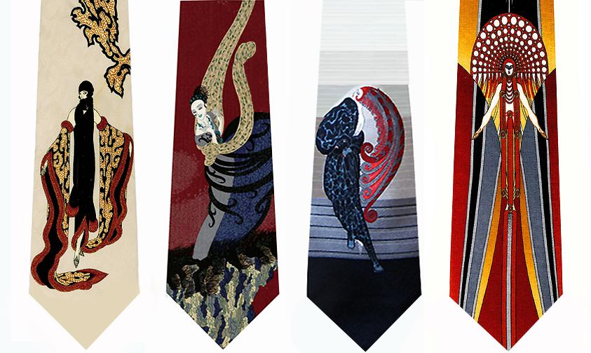 Erte Art  Neckties
