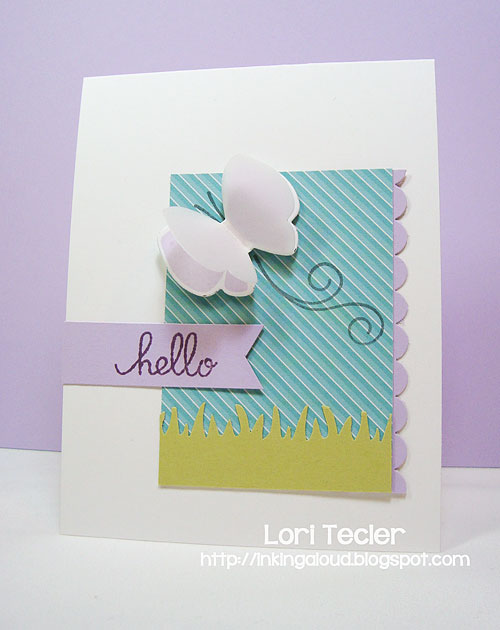 Springtime Hello-designed by Lori Tecler/Inking Aloud-stamps and dies from Paper Smooches