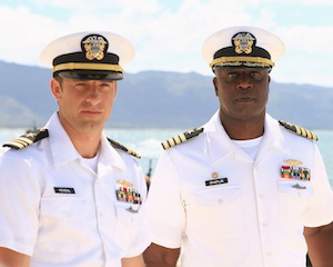 Andre Braugher and Scott Speedman Navy