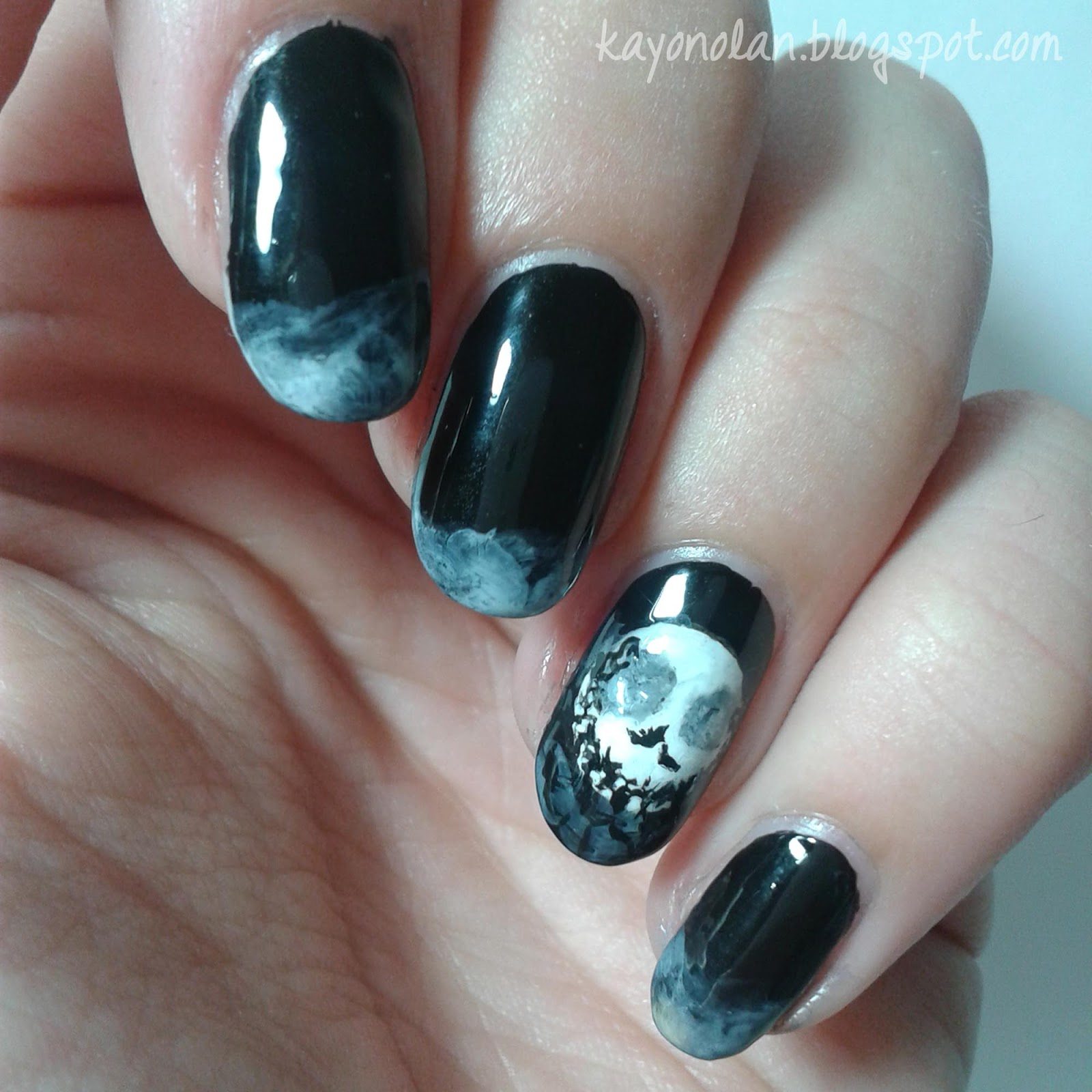 Nightmare before Christmas inspired Halloween nails