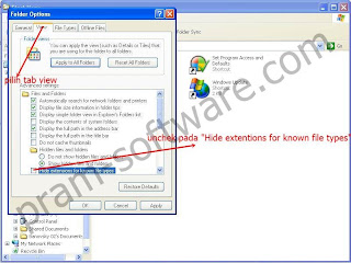 Folder Option di Windows XP