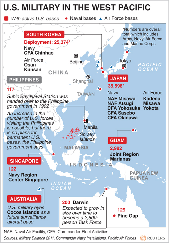 War News Updates North Koreas Military Threatens US Bases In - Us Air Force Bases In Japan Map