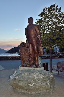 Statue of William Gilbert Rees in Queenstown, NZ