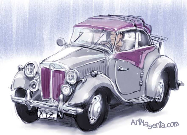 MG TD 1953, Sports car sketch by ArtMagenta