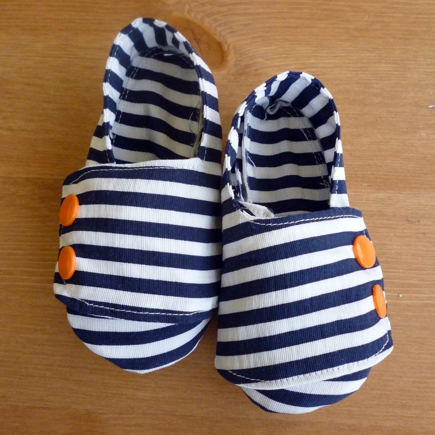 Nautical Baby Shoes Heather Handmade