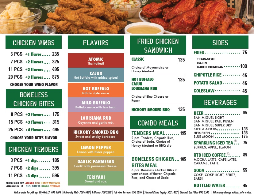 Wingstop specials coupons