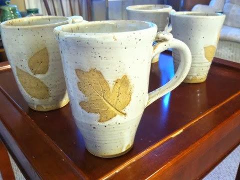 alchemy of clay leaf imprinted mugs 2. Black Bedroom Furniture Sets. Home Design Ideas