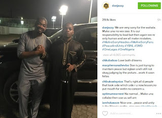Olamide And Don Jazzy Finally Squash Beef, Reconcile And Pose For Groupie (Photos)