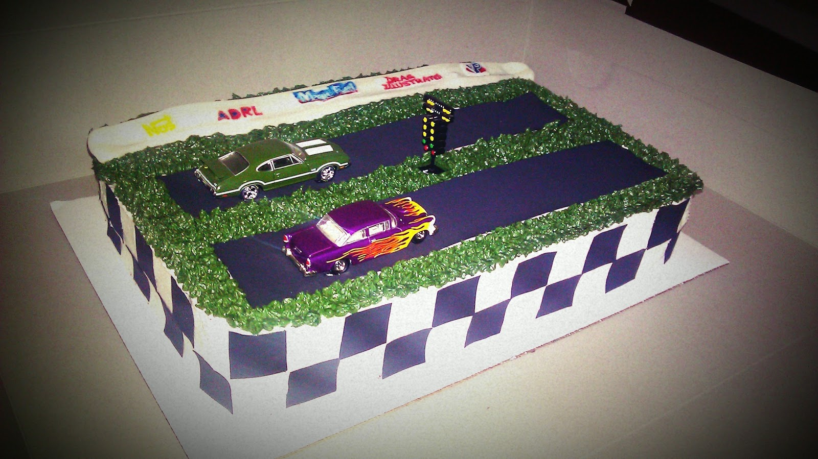 Drag Racing Groom's Cake