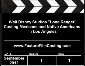 Disney Lone Ranger Los Angeles Casting Call