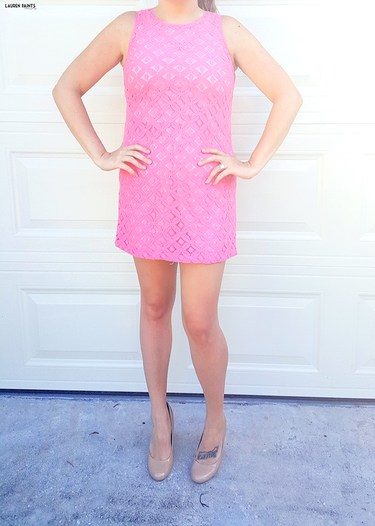 Another thrift store score that's an eye-catcher! This pink frock is perfect for any night or day on the town and I'm sharing similar dresses you can find online!