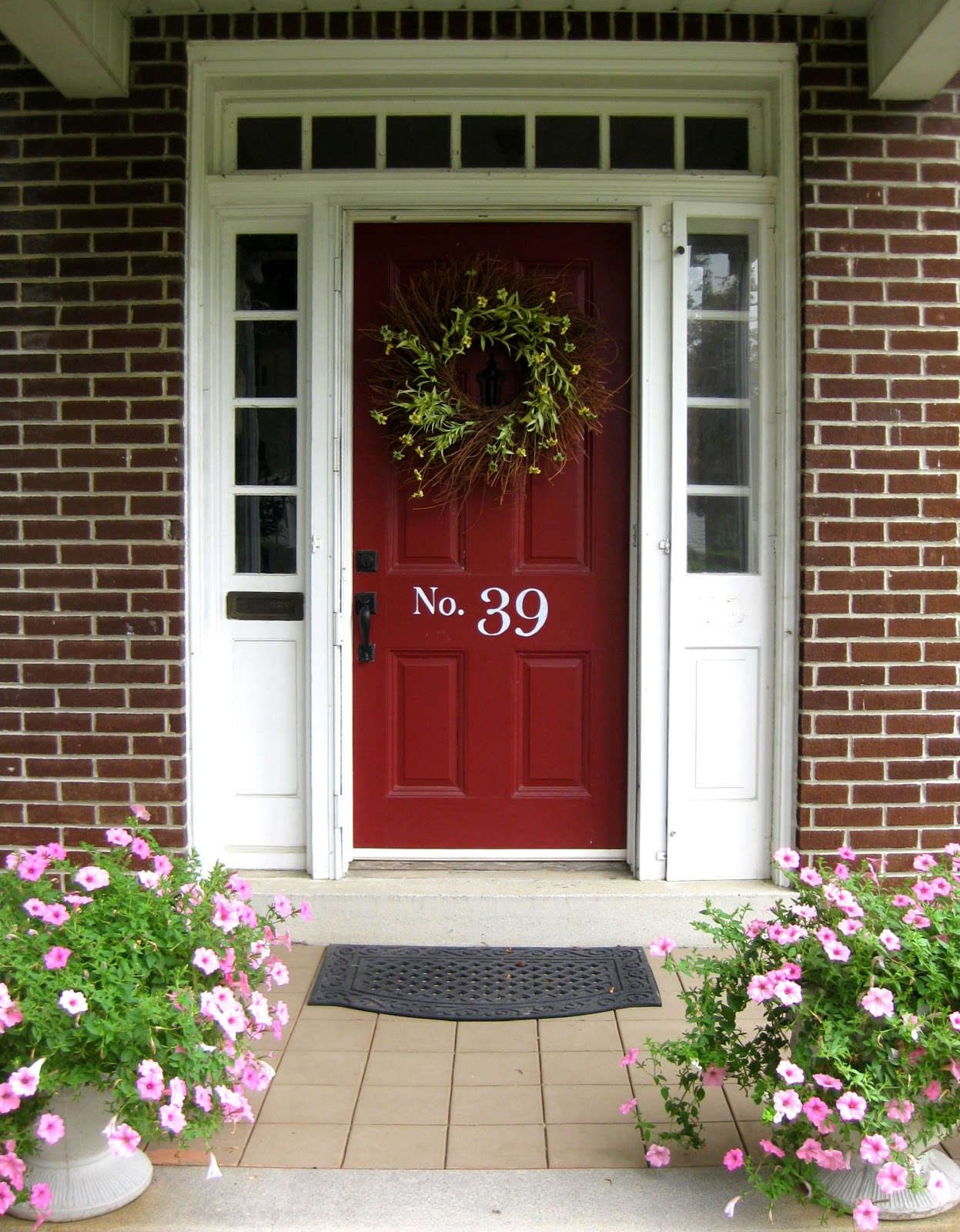 1600 #A6257F My *PINK* Life: Front Entry {Before & After} wallpaper Red Front Doors For Homes 41151247