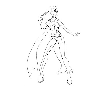 #9 Emma Frost Coloring Page