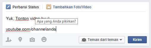 Cara Promosi Video YouTube di Facebook