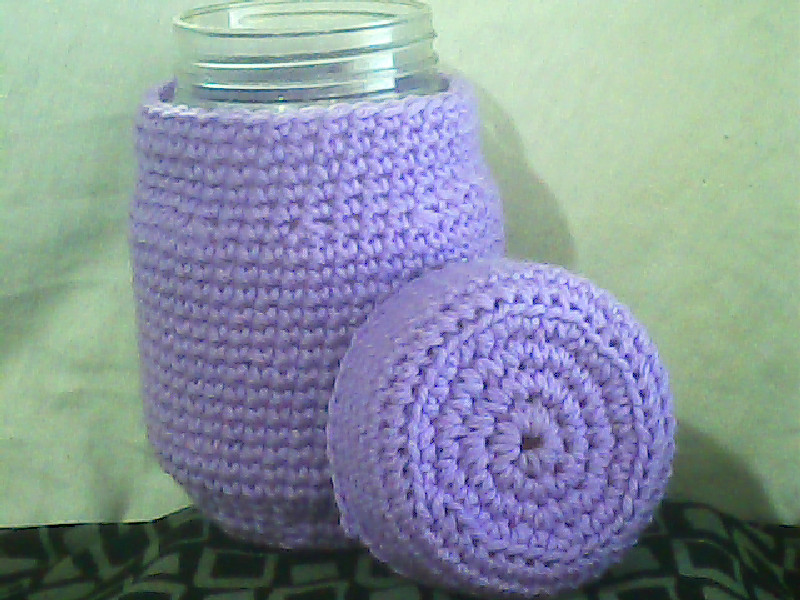 Crochet Patterns Jar Covers : free pattern again for all my cutey crocheters i made this jar cover ...