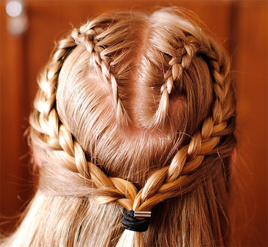 плетение из кос