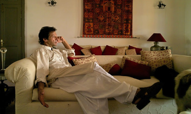 Imran Khan in Bani Gala