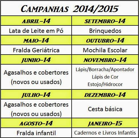 CAMPANHAS 2014/2015