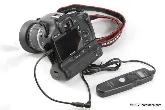 Canon EOS 550D + N3F-E3M Converter cable + Aputure AP-TRC3 timer controller