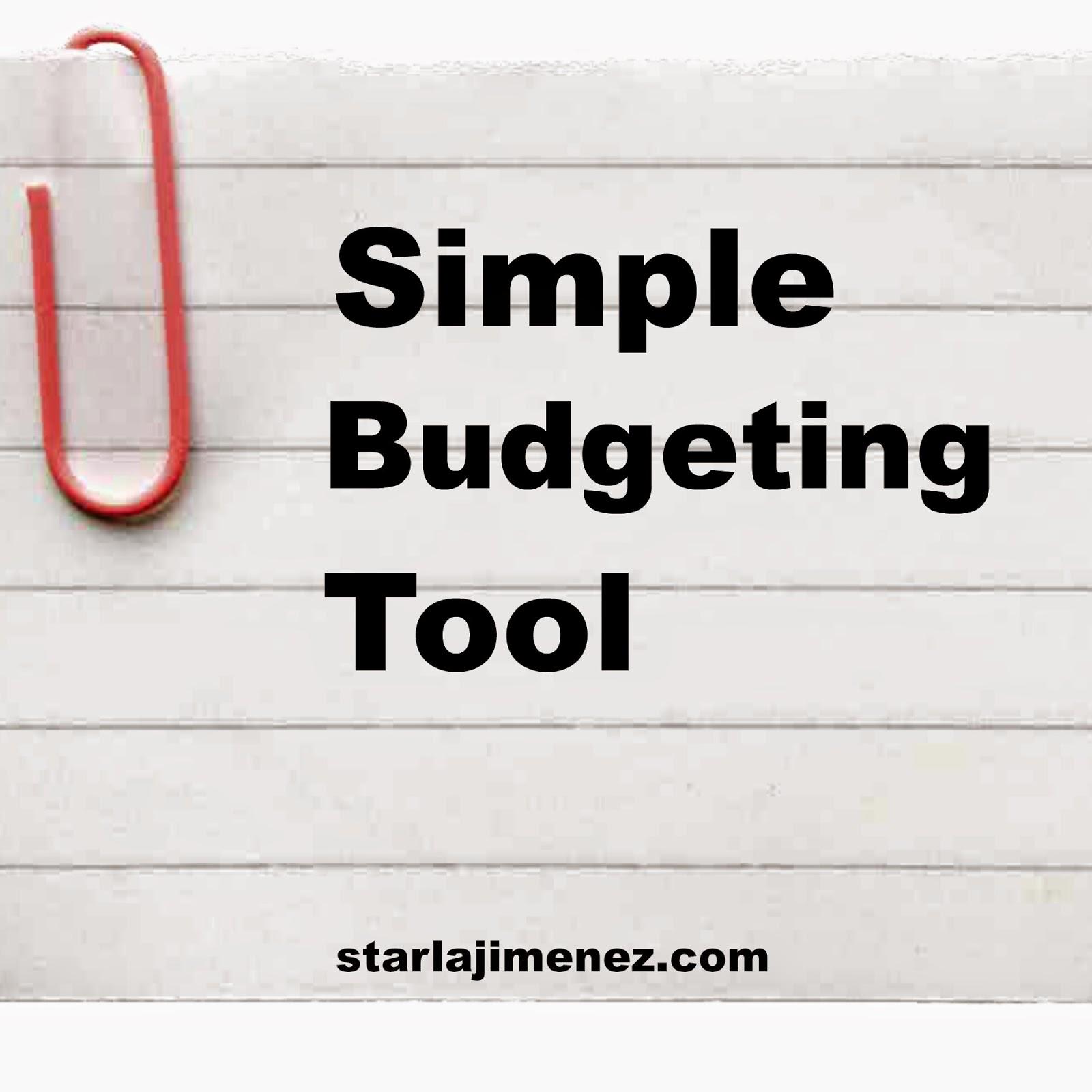 simple budgeting tool