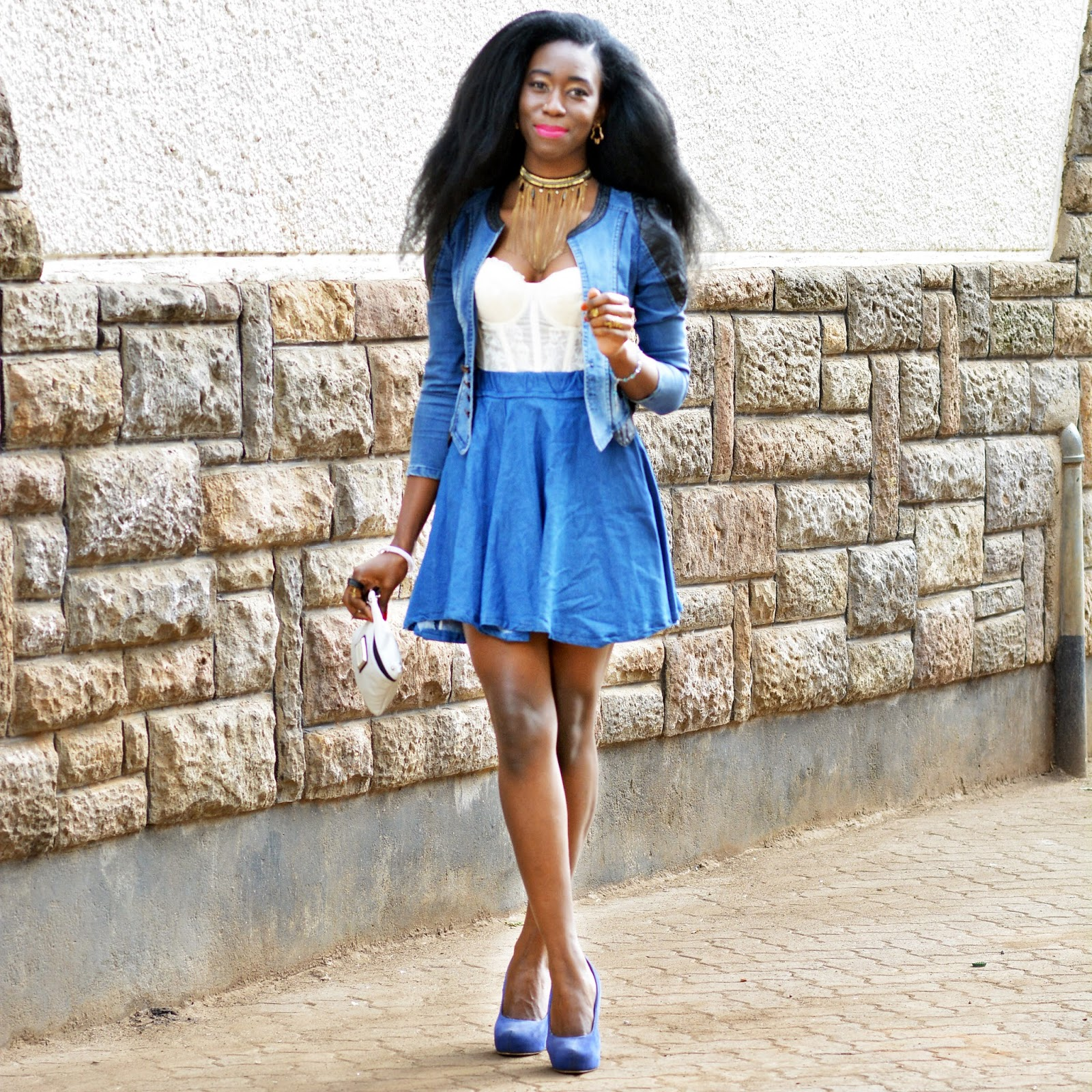 THE DENIM CIRCLE SKIRT | Style With Ezil