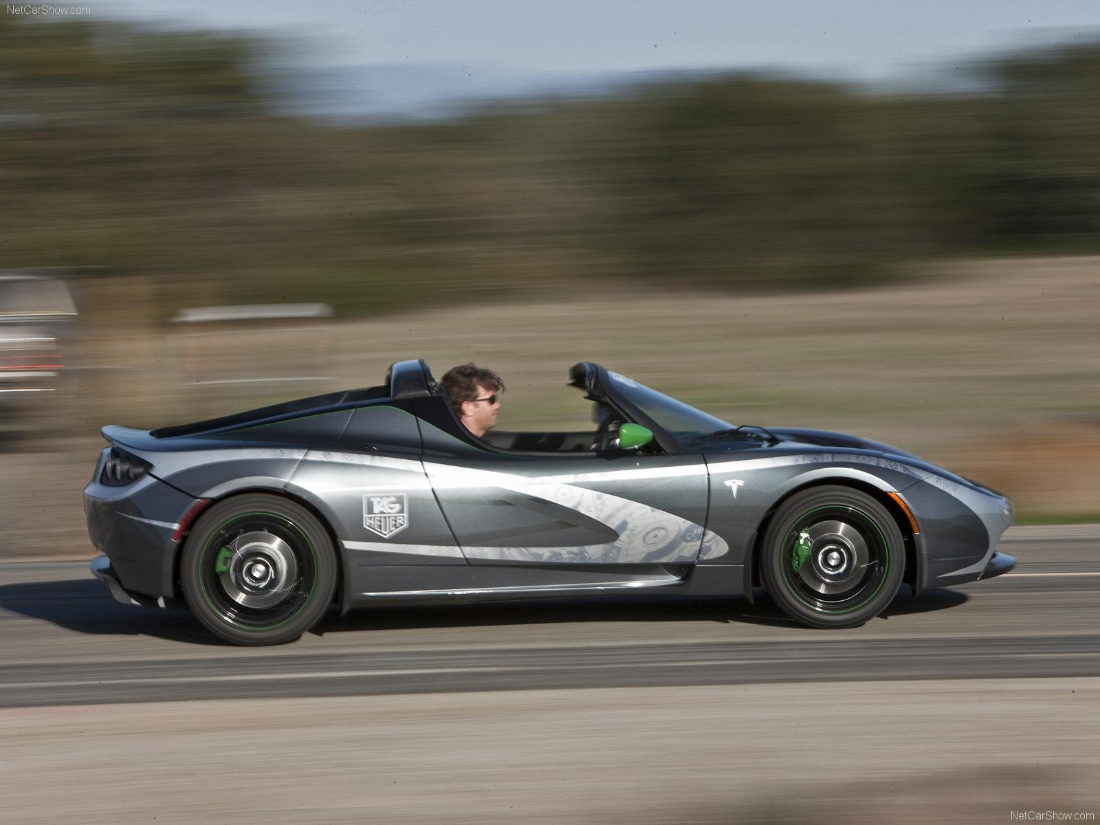 Hình ảnh xe điện Tesla Roadster TAG Heuer 2010 & nội ngoại thất