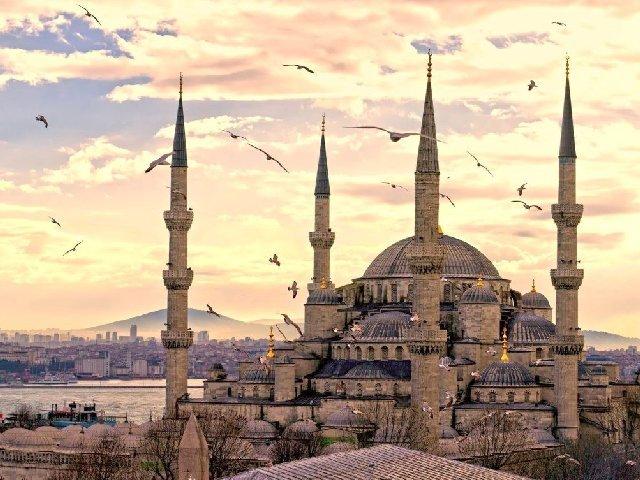 Istambul: Mesquita Azul, do Sultão Ahmed.