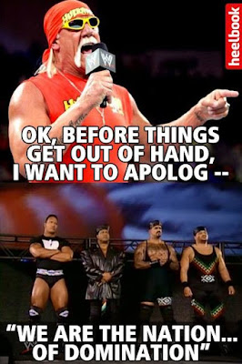 hogan tries to apologize, hogan vs. the rock