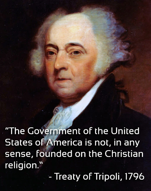 we are not a christian nation - john adams
