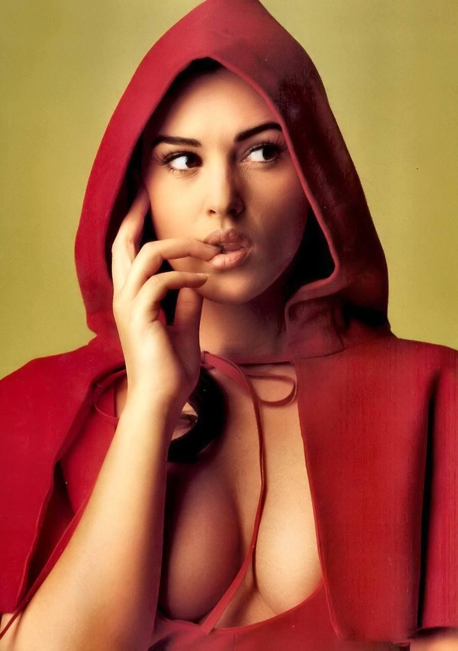 Monica Bellucci Red Riding Hood