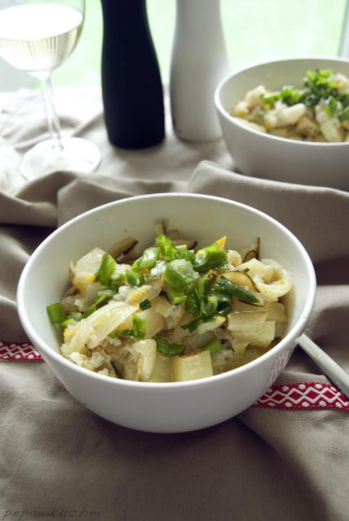 Pepa w kuchni: Cod potato and spring onion stew