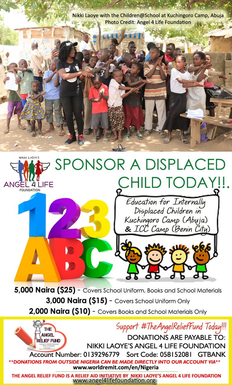 Sponsor a Displaced Child Today!! #TheAngelReliefFund