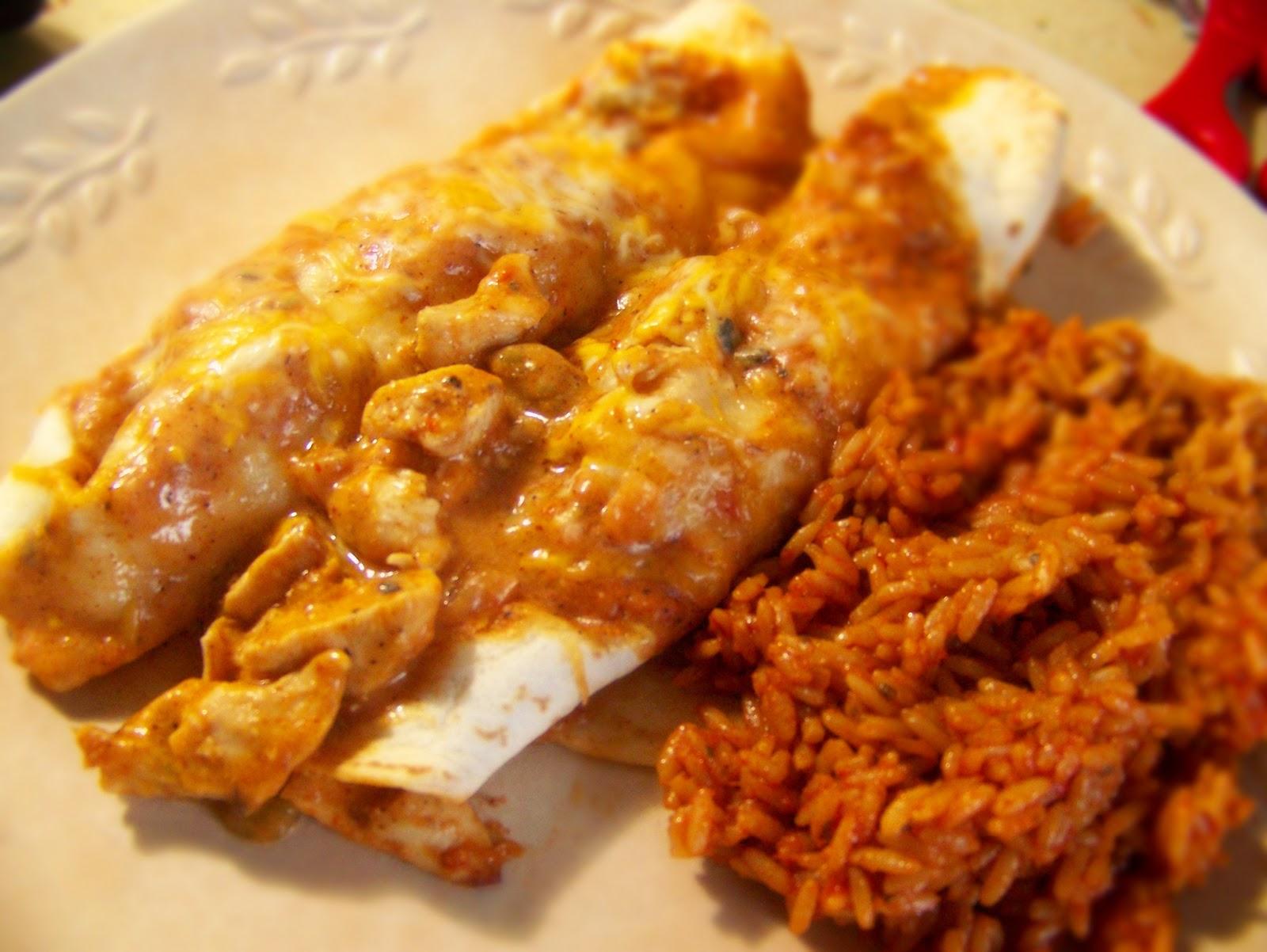 Frazzled Mom's Life: Day 3: Recipe 2- Creamy Chicken Enchiladas