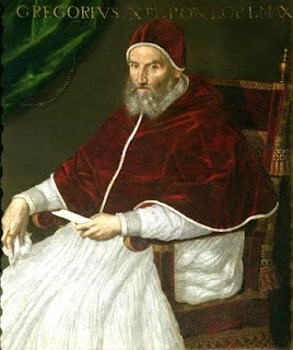 """Gregory XIII"" by Lavinia Fontana - Unknown. Licensed under Public Domain via Wikimedia Commons - https://commons.wikimedia.org/wiki/File:Gregory_XIII.jpg#/media/File:Gregory_XIII.jpg"