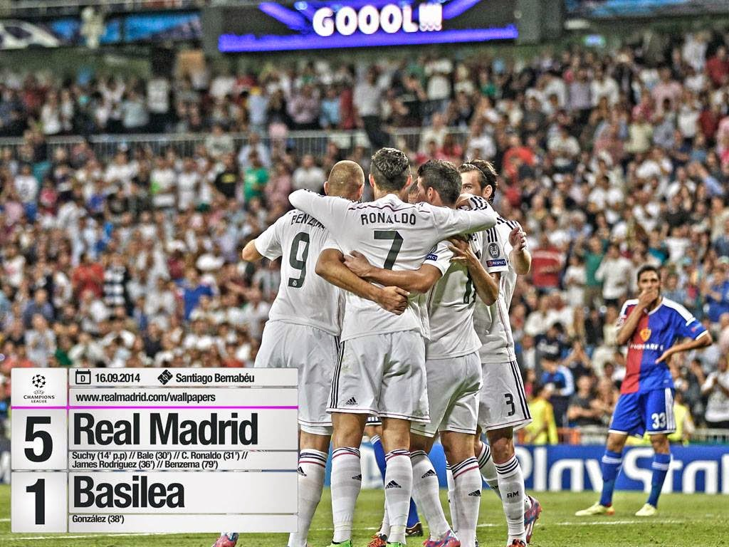 Real madrid tv real madrid 5 1 basilea for Real madrid tv