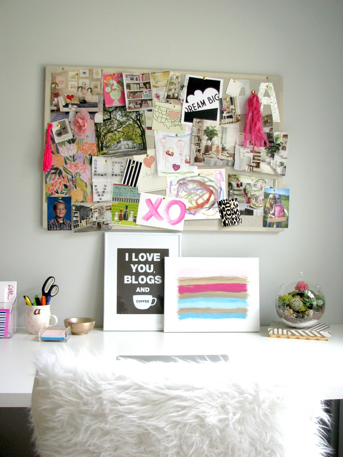 how to make a fabric covered pin board