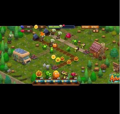 FB Game : Plants vs. Zombies Adventures