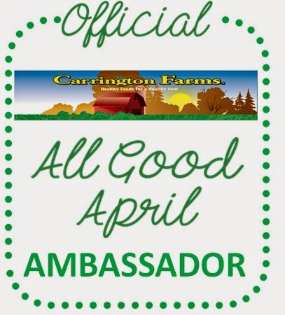 Carrington Farms all good april ambassador badge