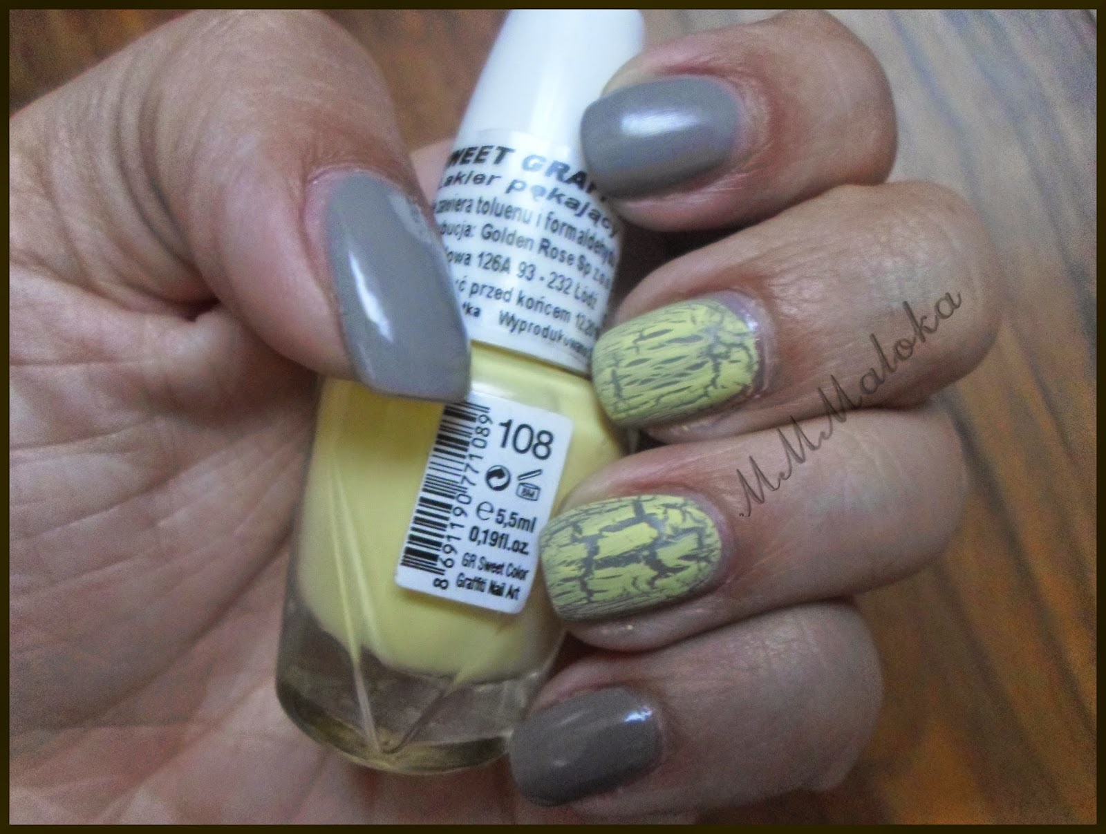 Golden Rose Rich Color + Golden Rose Grafitti Nail Art