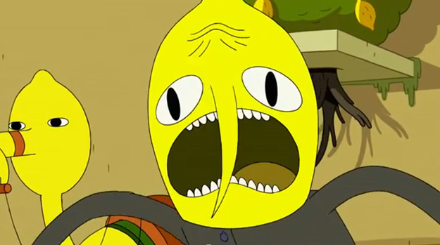 Lemongrab, being his usual laid-back self