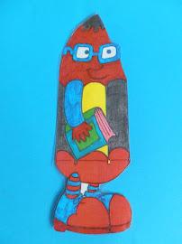 Lapicín, la mascota de nuestra biblioteca.