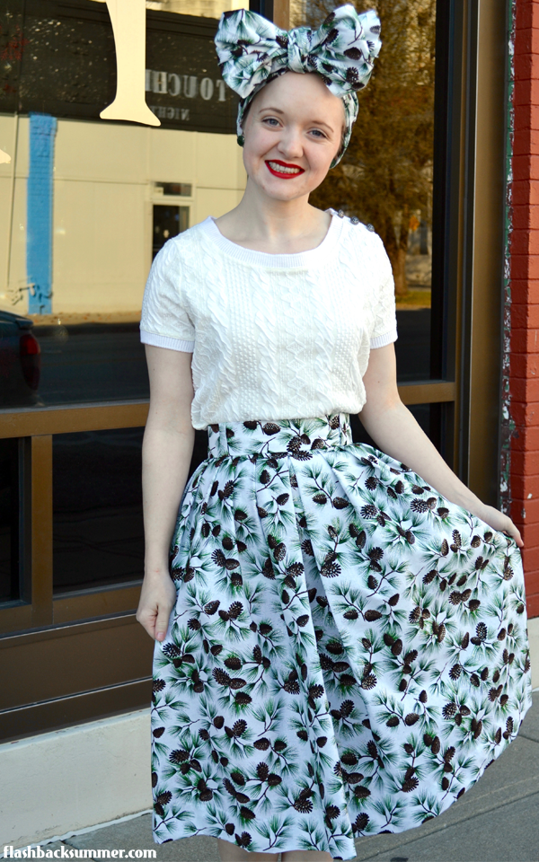 Flashback Summer: How to Make a Vintage Pleated Skirt without a Pattern
