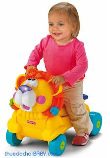 thuê đồ chơi baby, mướn đồ chơi, thuê đồ chơi trẻ em, đồ chơi trẻ em, cho thuê xe tập đi fisher price, thuê xe tập đi sư tử
