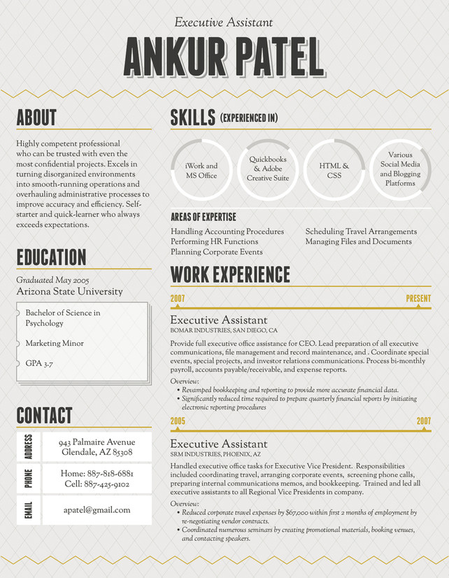 Stand Out Cv Designs : All up in your b school a sleeker you résumé design