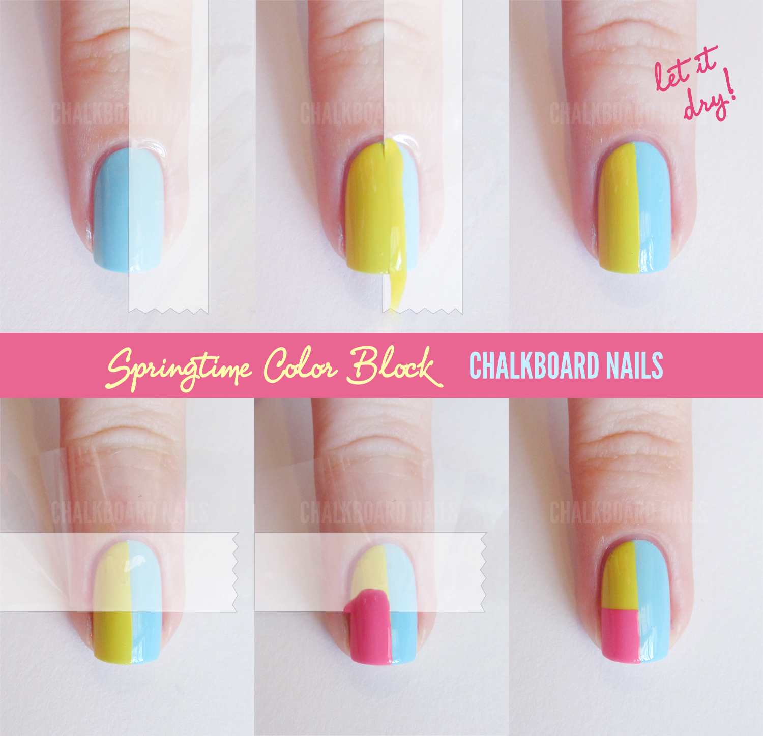 sally hansen spring color block tape manicure tutorial chalkboard nails nail art blog. Black Bedroom Furniture Sets. Home Design Ideas