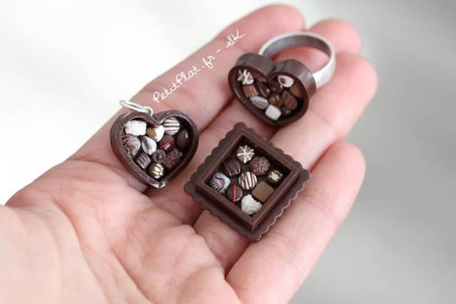 cincin bentuk kotak coklat comel